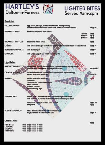 Hartleys - dalton in furness restaurants LUNCH MENU