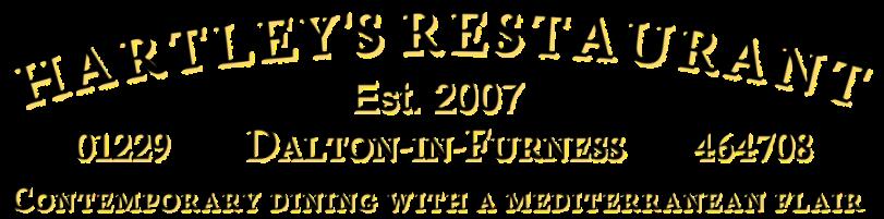 Hartleys - dalton in furness restaurants cumbria logo